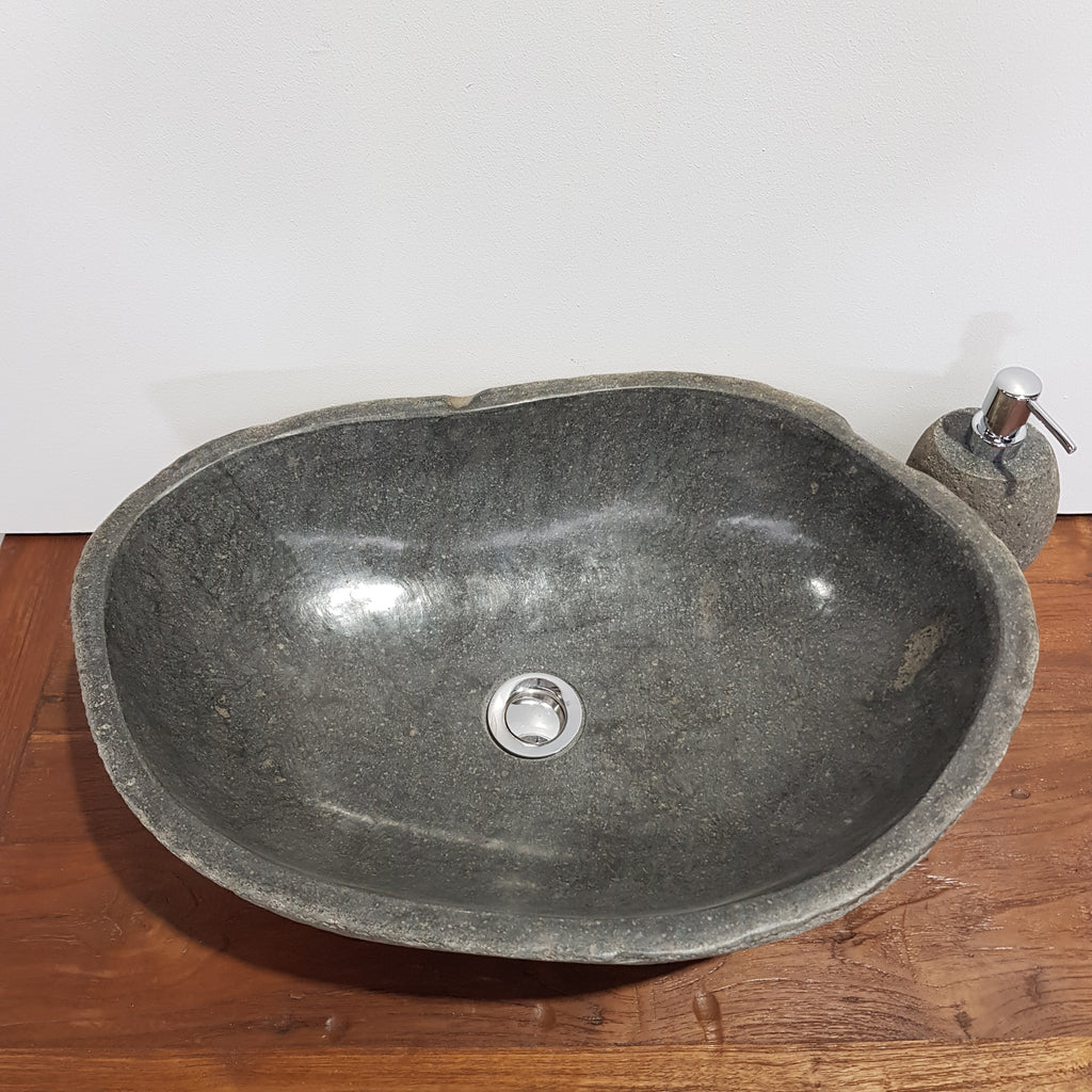 Natural River Stone Bathroom Basin Large 43S/A