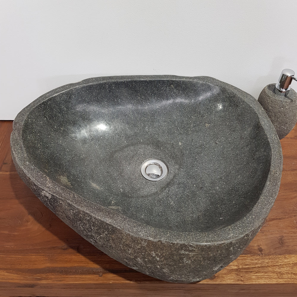 Natural River Stone Bathroom Basin Large 44S/A