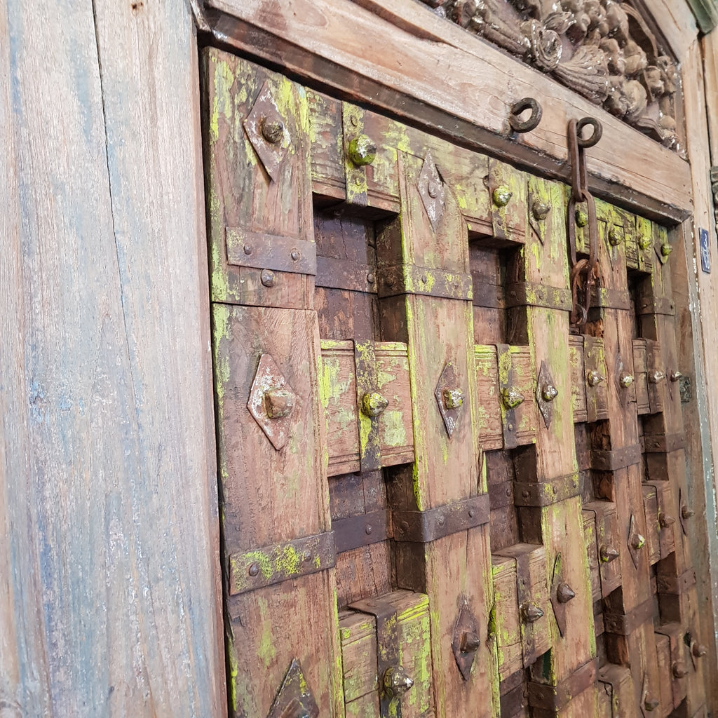Indian Metal Stud & Timber Door - Eco Village Collection