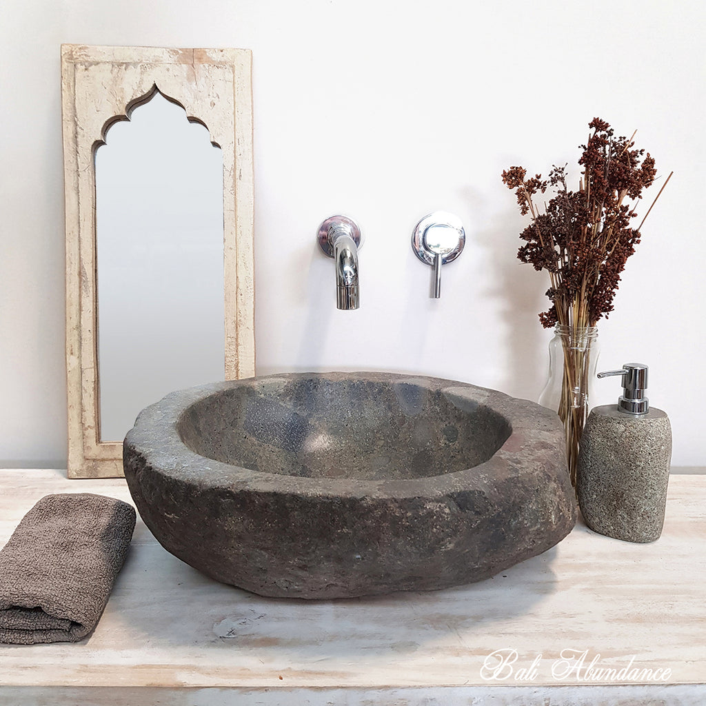 Natural River Stone Bathroom Basin