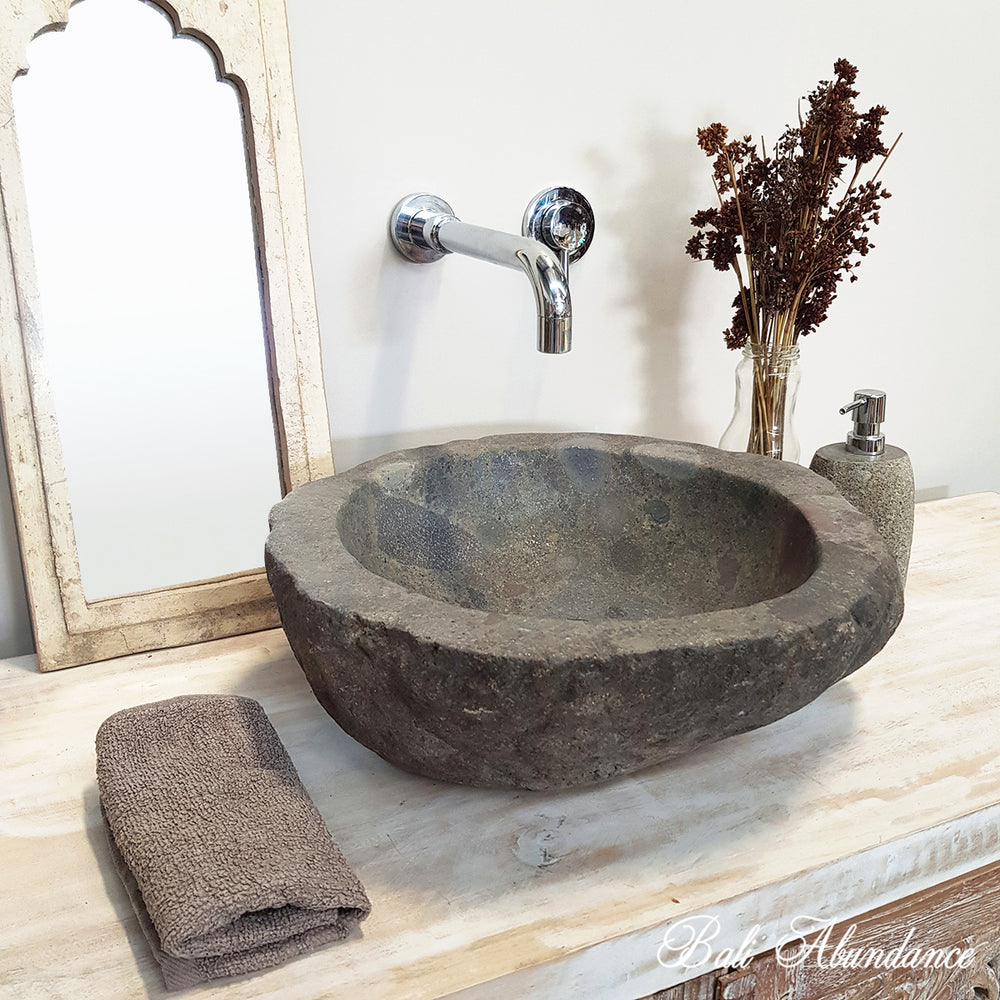 Natural River Stone Bathroom Basin No. 45L