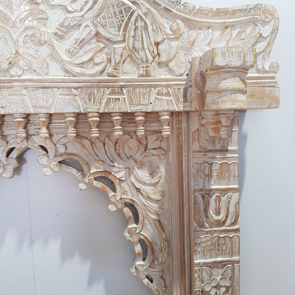 Indian Jharokha Temple Frame Wall Hanging - Eco Village Collection 49U