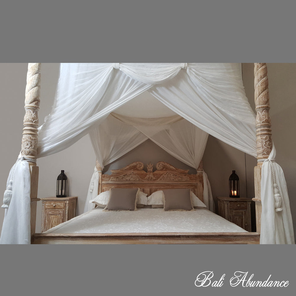 DELUXE Canopy Mosquito Net in NATURAL