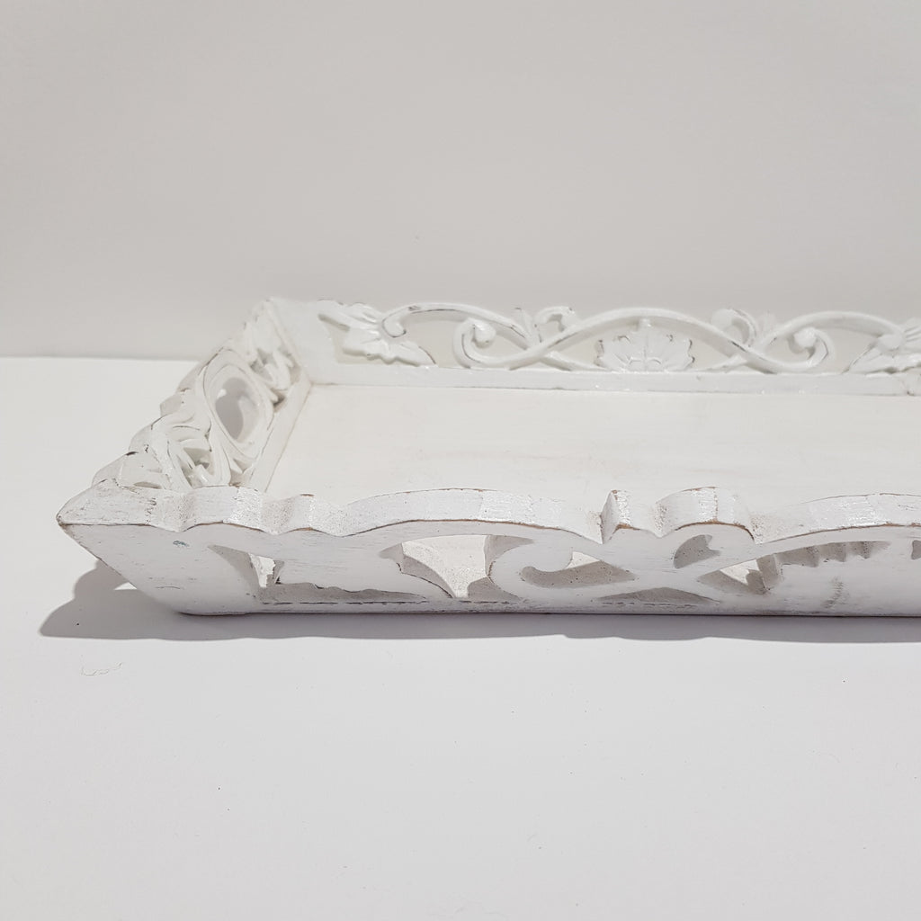 Whitewash Bali Serving Tray 52P