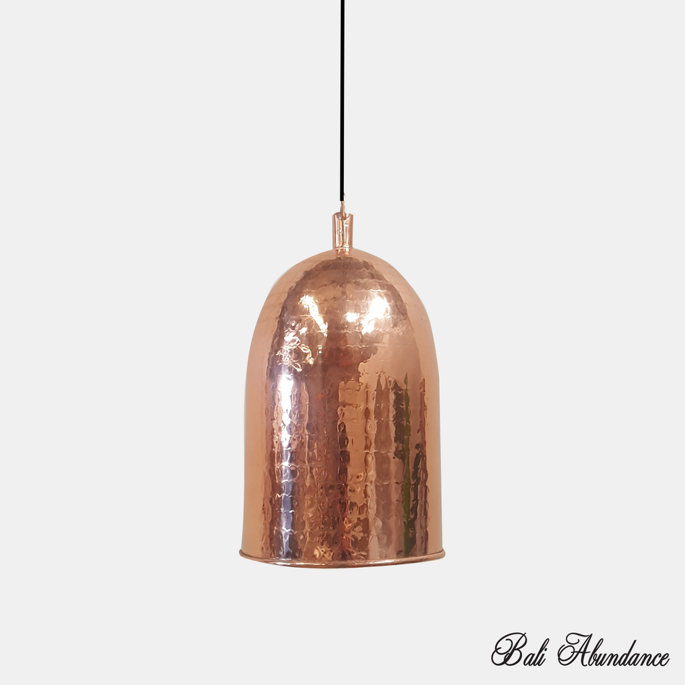 Copper Light shade Pendant - Polished Beaten Genuine Copper
