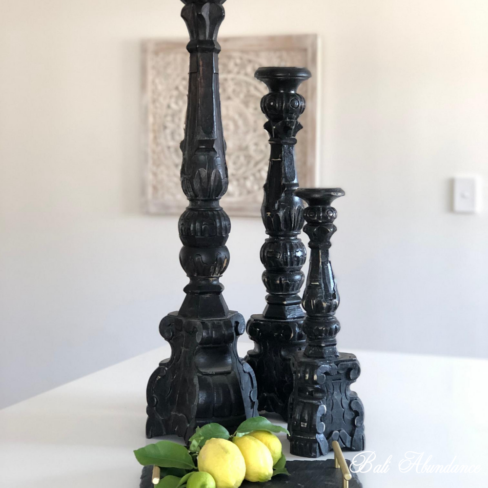 Classic Candle Stick BLACK - Small