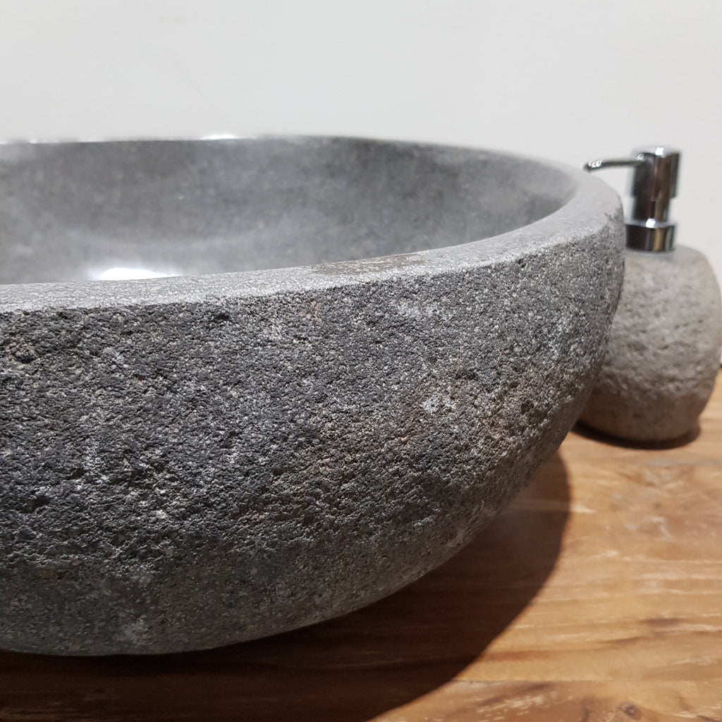 Natural River Stone Bathroom Basin Large 77N