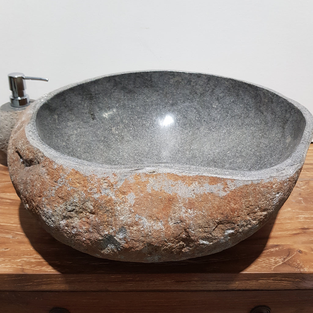 Natural River Stone Bathroom Basin Large 78N