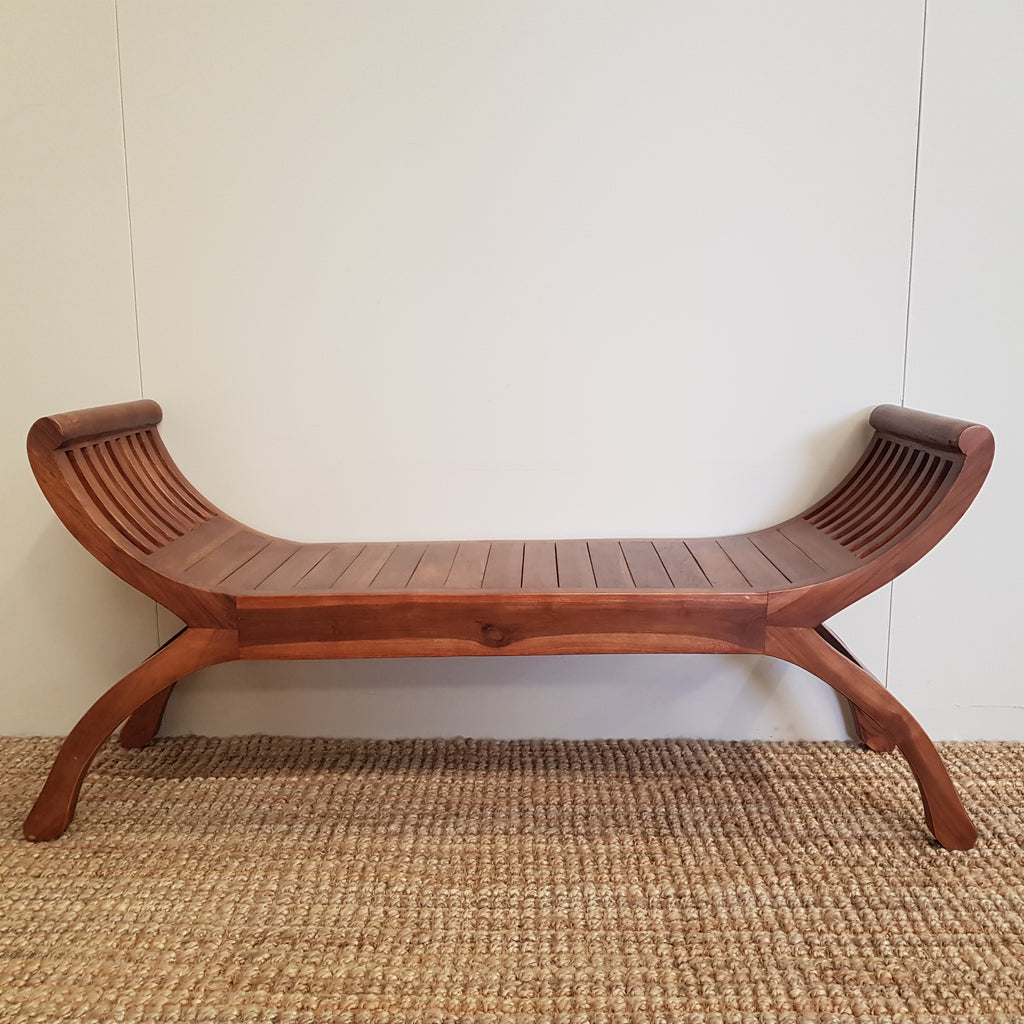Kartini CHESTNUT Wooden Bench Seat