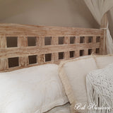 Hand Carved Teak MIMI Four Poster Bed in WHITEWASH