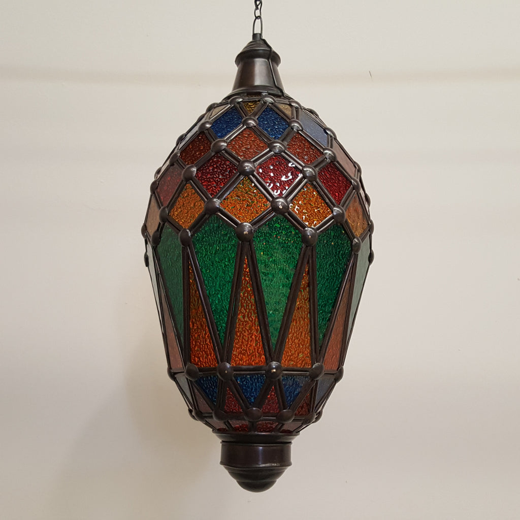 Moroccan inspired Colourful Glass Lightshade