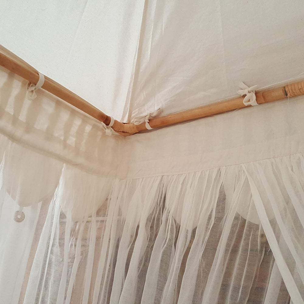 Box Canopy Mosquito Net in NATURAL 1M x 1M