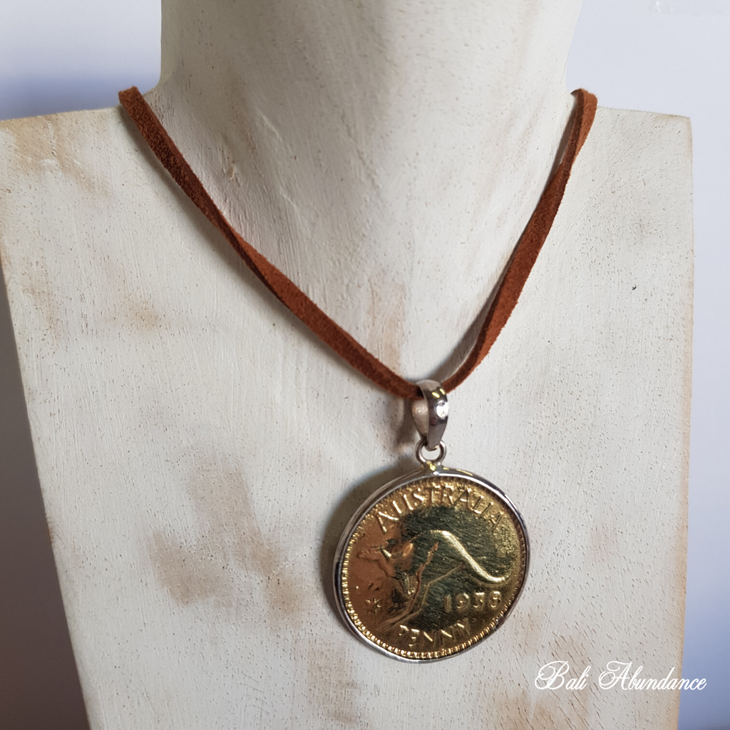 Balinese Handmade Coin Pendant Necklace