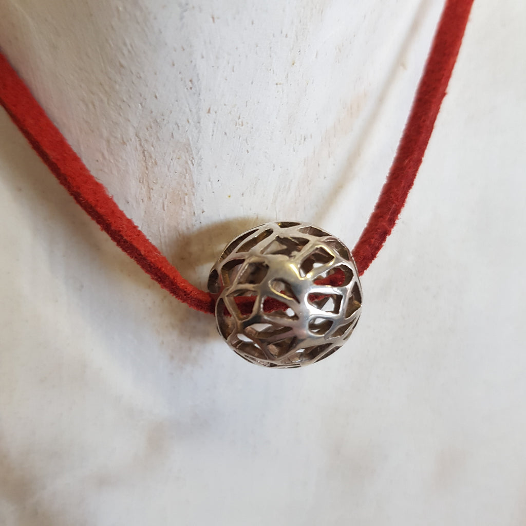 Balinese Handmade Lotus Ball Pendant Necklace
