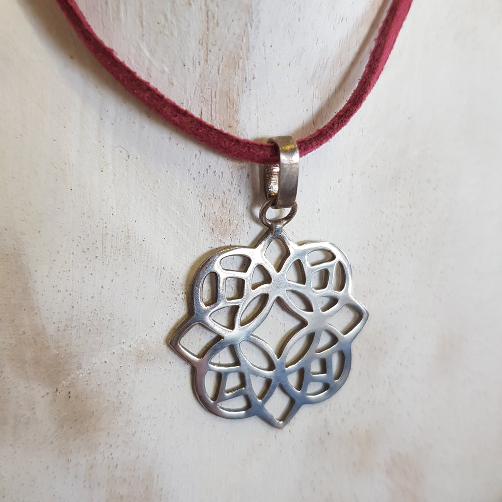 Balinese Handmade Lotus Flower Pendant Necklace