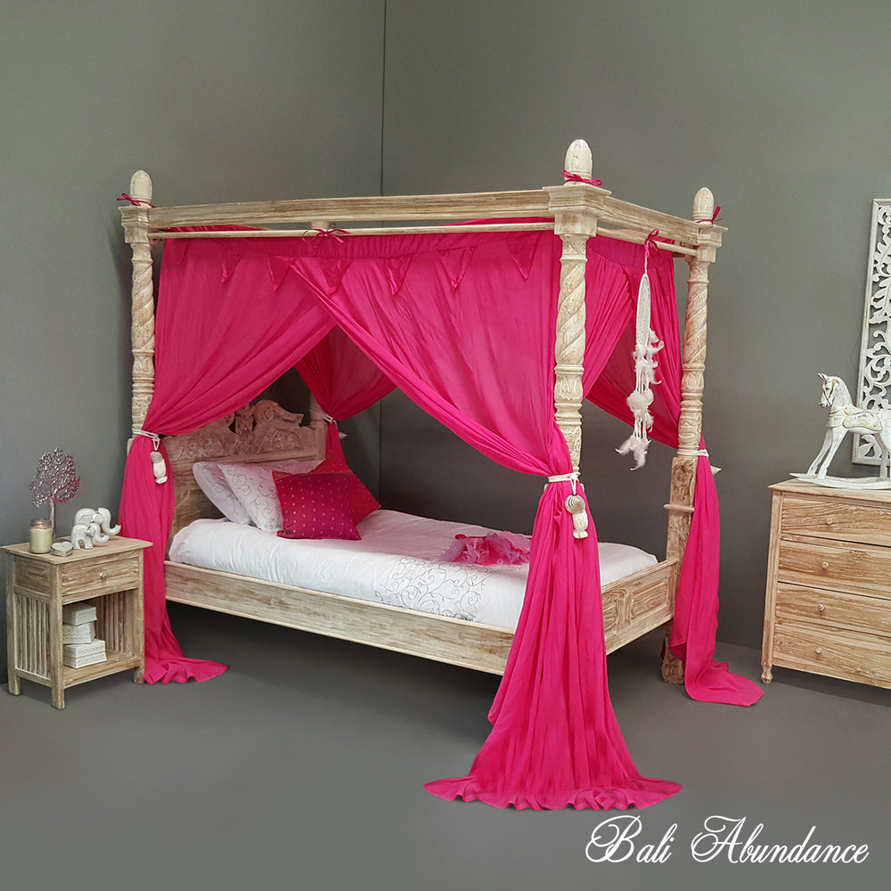 STANDARD Button-Less Canopy Mosquito Net in Pink