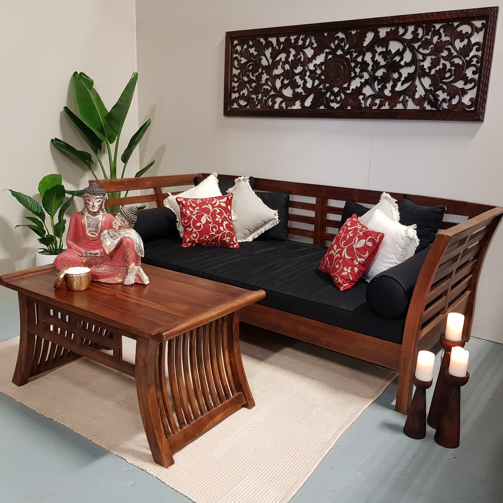 bali, bali furniture, handcarved, hand made, daybed, day bed, garden, bali outdoor, outdoor living, seating, bed, bali garden, chair, wooden