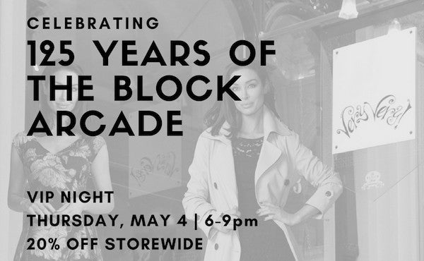 Very Very celebrating 125 years of Block Arcade in Melbourne