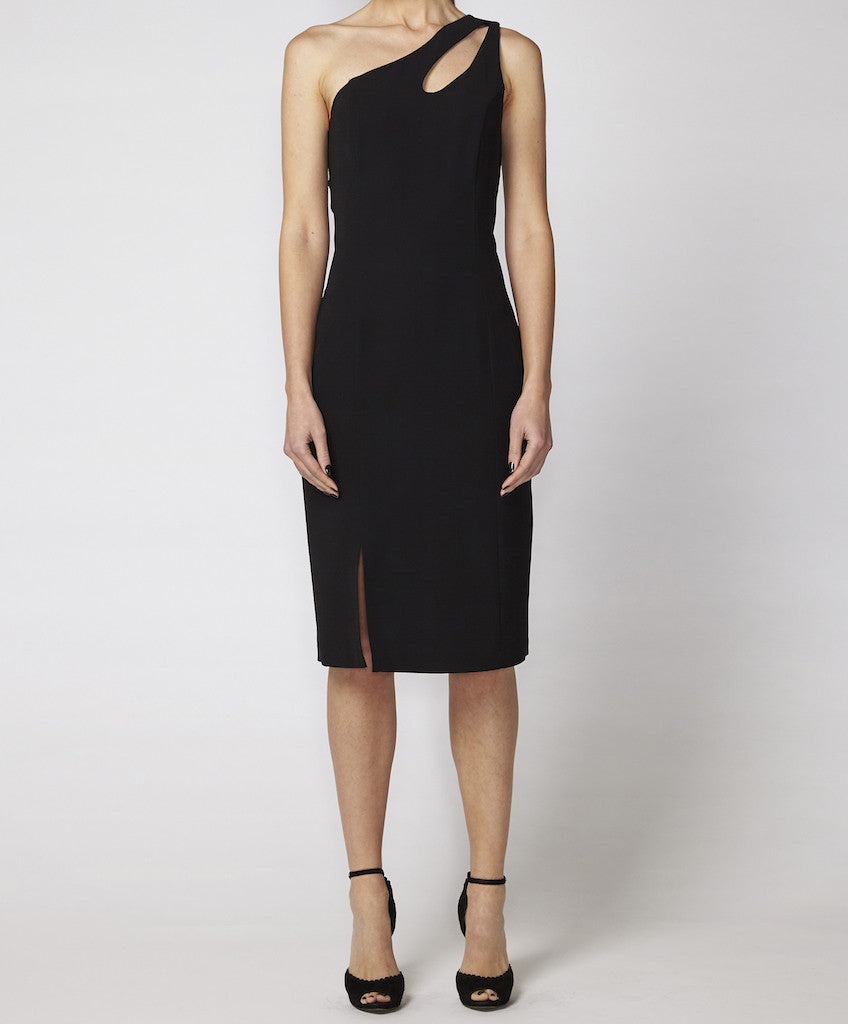 One shoulder dress with keyhole Billie GSS black