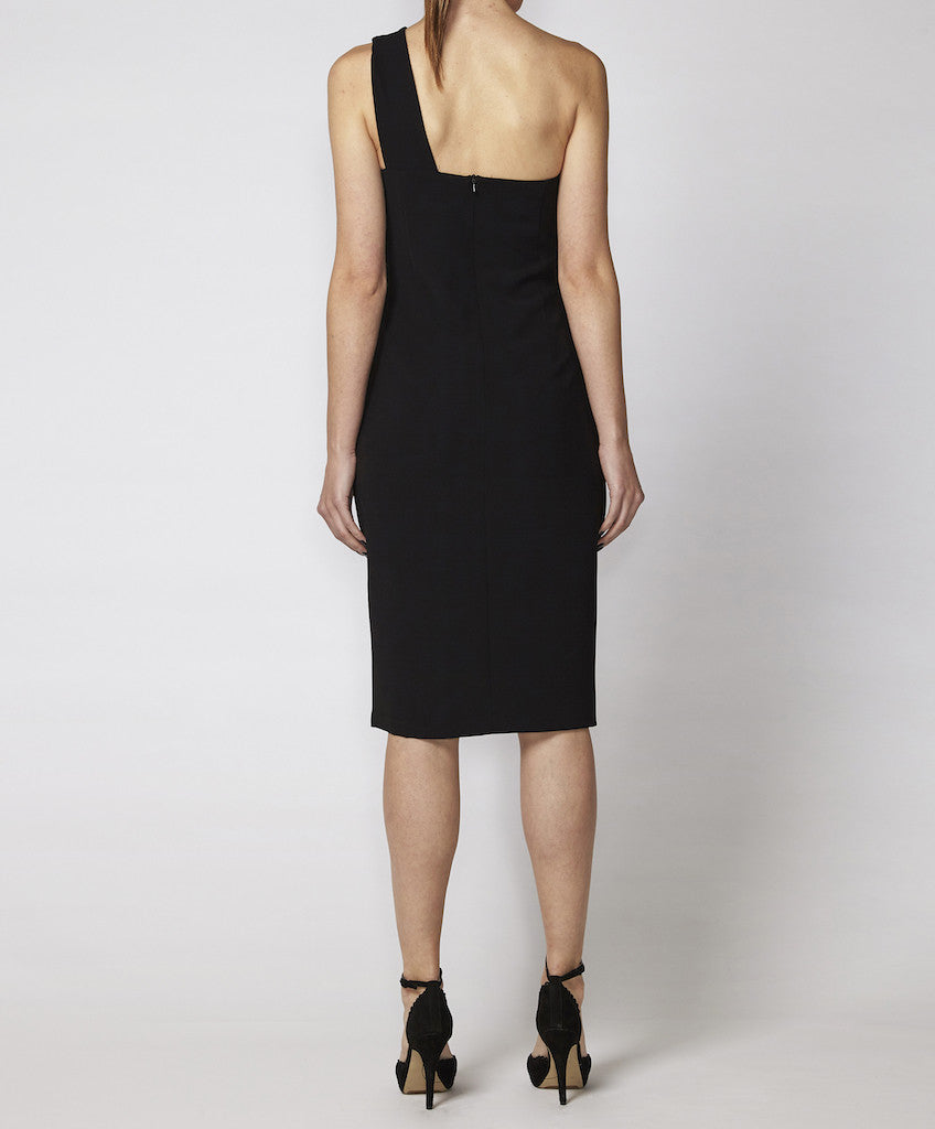 One shoulder dress with keyhole Billie GSS black back