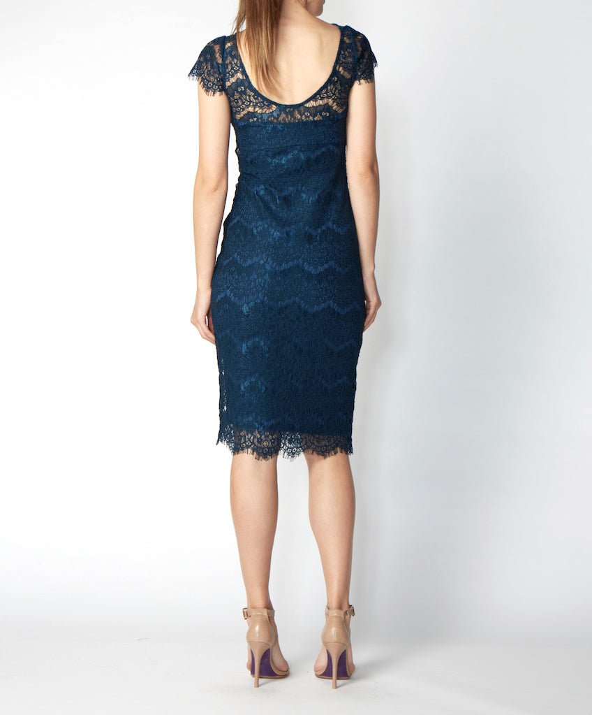 Very Very lace dress with cap sleeves Gidget PLL back