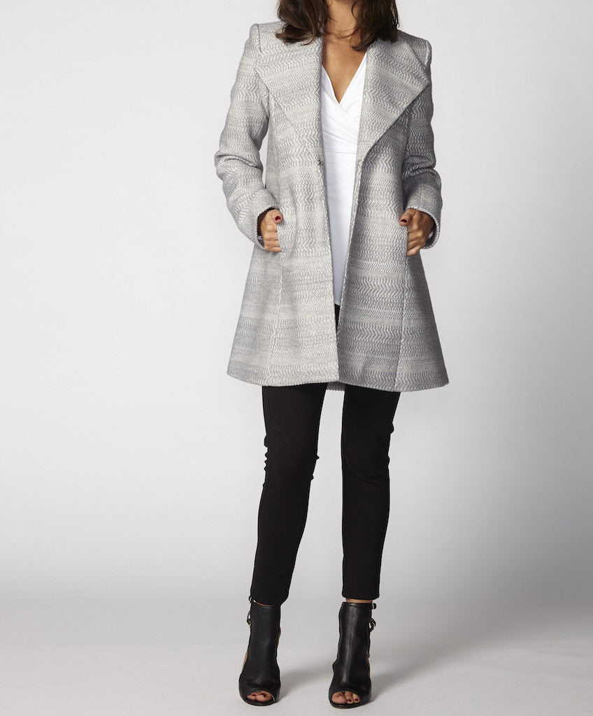 Very Very Winter 2017: Jerilyn CTC - a short swing coat available in almond and cinder grey
