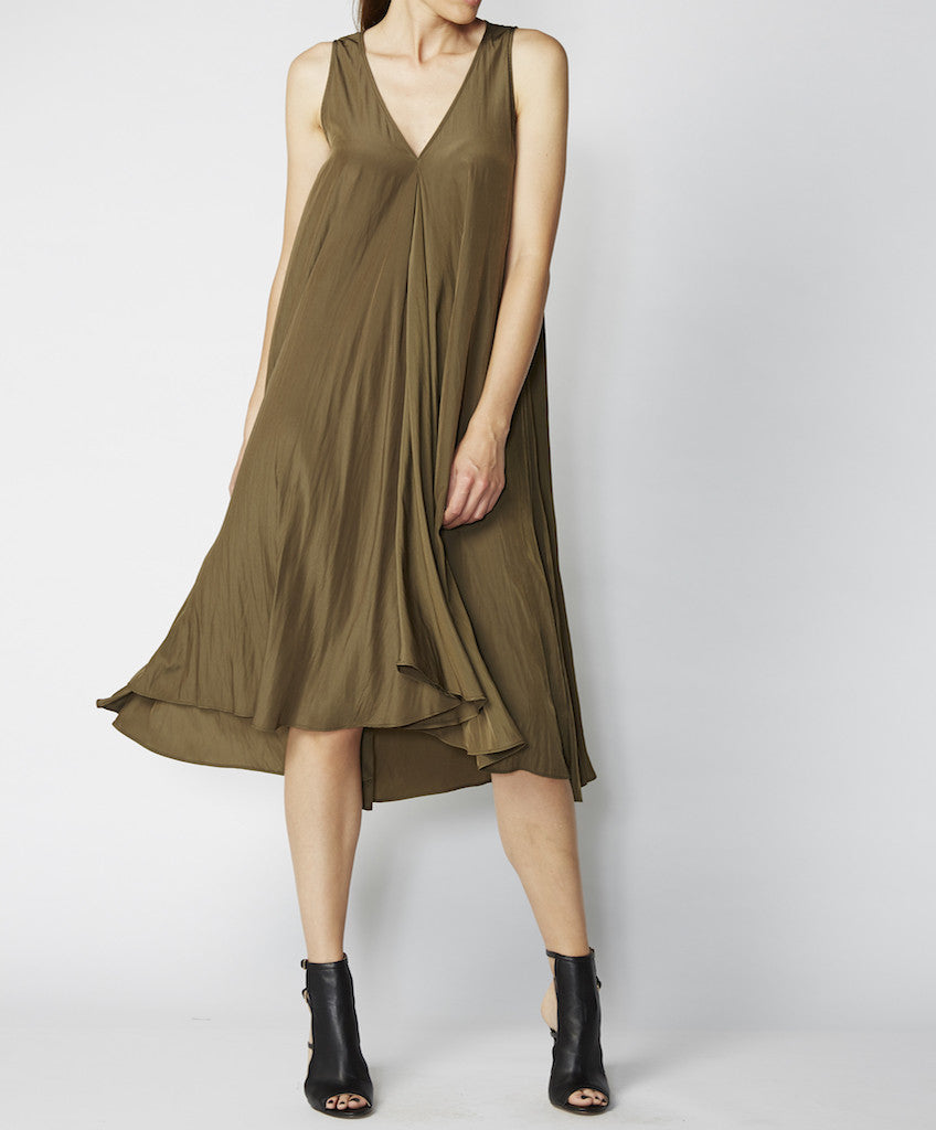 Very Very V-neck midi swing dress Paige PSP