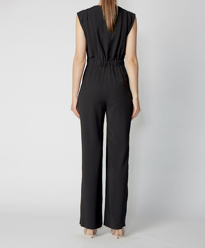 Very Very black zip front jump suit Pippa GSS back