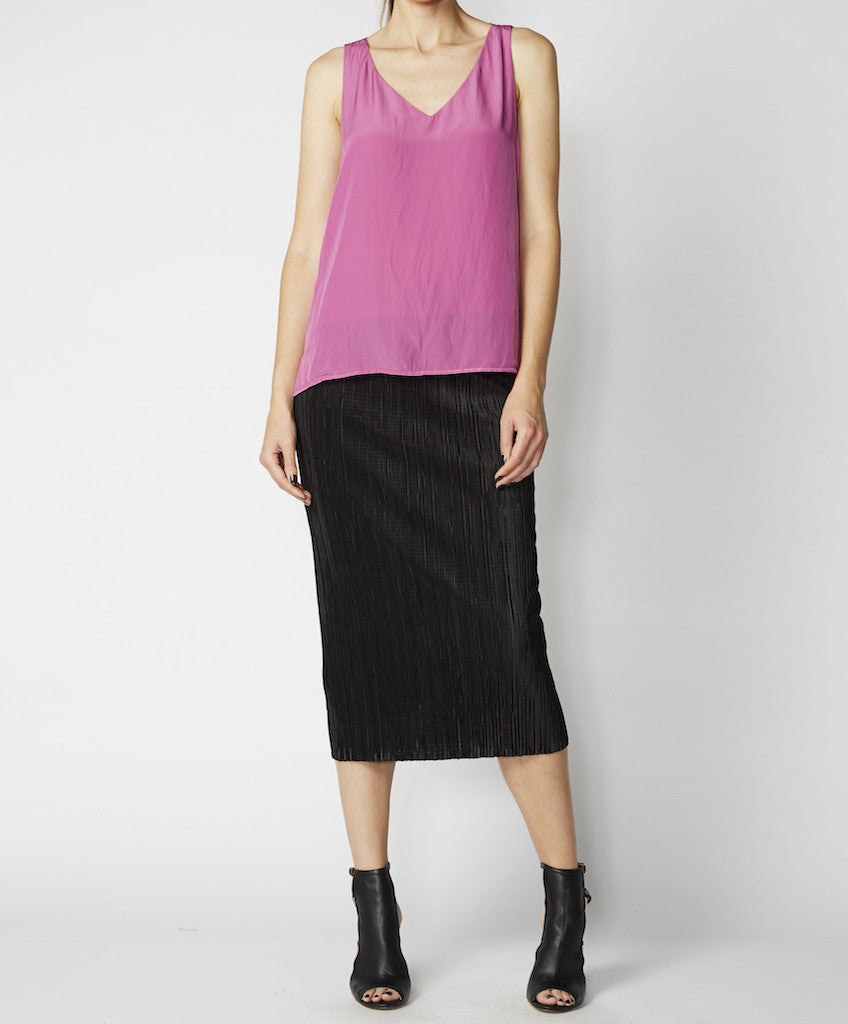 Very Very black pull on pleat skirt Smit PBP