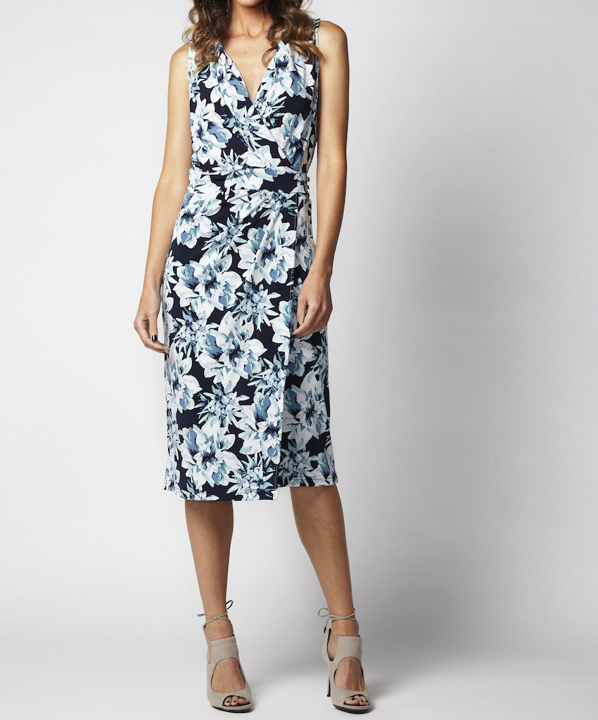 Jersey floral wrap dress Tabitha CMF