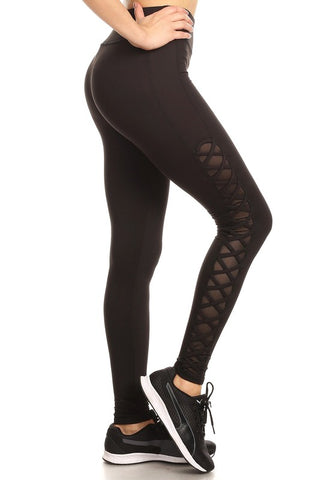 Mesh Criss Cross Athletic Legging