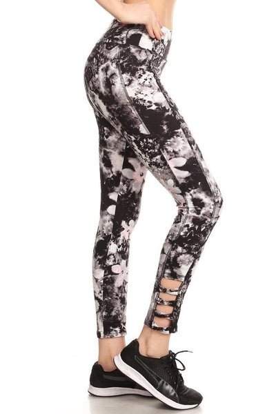 Abstract Floral Athletic Legging