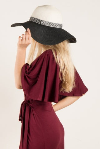 Two Toned Floppy Hat