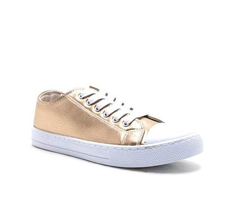 Gold Metallic Low Top Sneaker