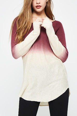 Wine Ombre Sweater