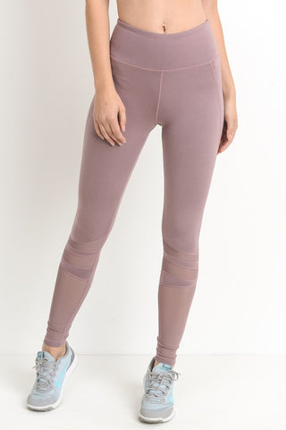 Mesh Accent Athletic Leggings