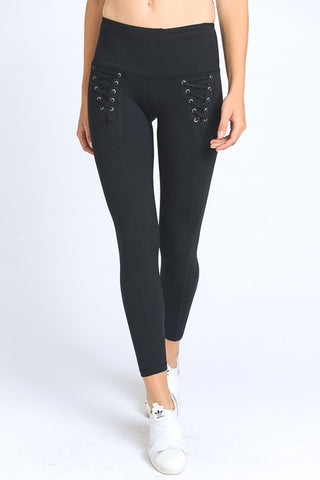 Lace Up Athletic Leggings