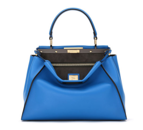 Fendi Peekaboo Bag in Medium Blue leather