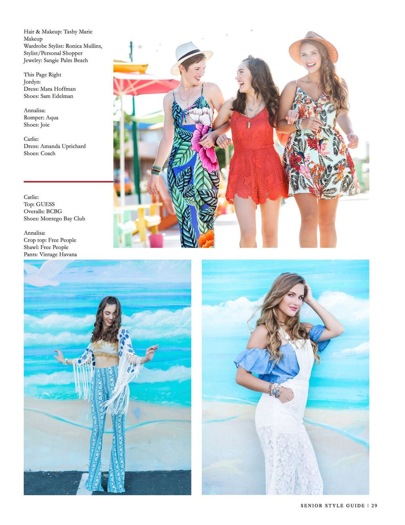senior style magazine,mara hoffman dress, sangie palm beach, september 2016 style guide