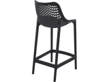 Air 65 Outdoor Bar Stools - Black - Back