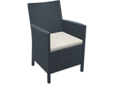 California Tub Chair - With Cushion - Anthracite - Front