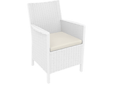 California Tub Chair - With Cushion - White - Front