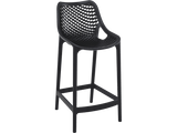 Air 65 Outdoor Bar Stools - Black - Front
