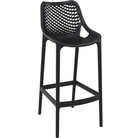 Air 75 Outdoor Bar Stools - Black - Front