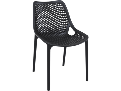 Air Chair - Single injection of polypropylene - Front - Black