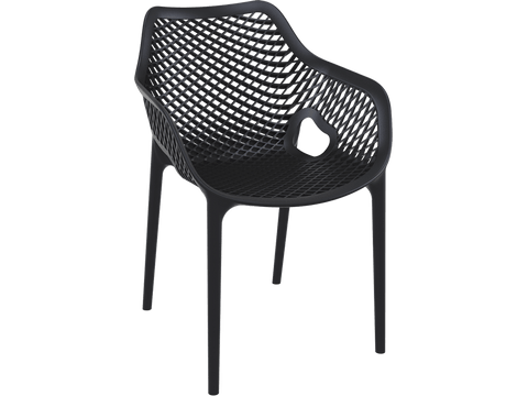 Air XL Armchair  - Single injection of polypropylene - Front - Black