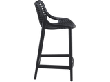 Air 65 Outdoor Bar Stools - Black - Side