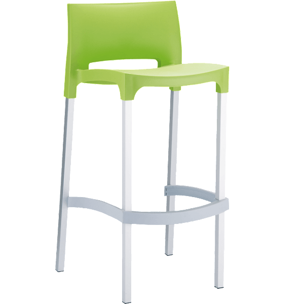 Gio Stool - Green - Commercial Bar Stools
