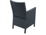 California Tub Chair - With Cushion - Anthracite - Back