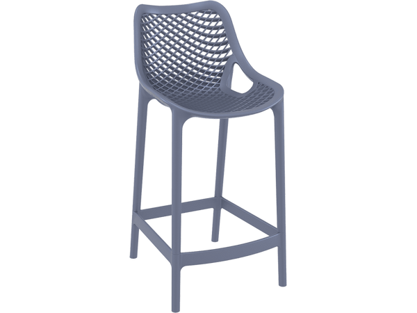 Air 65 Outdoor Bar Stools - Anthracite - Front
